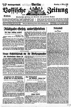 Vossische Zeitung vom 11.03.1928