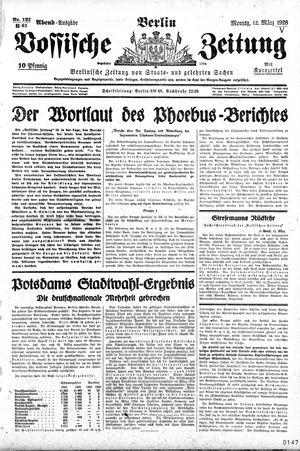 Vossische Zeitung vom 12.03.1928