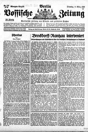 Vossische Zeitung vom 13.03.1928