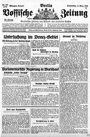 Vossische Zeitung vom 15.03.1928