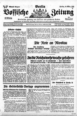 Vossische Zeitung vom 16.03.1928