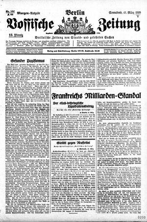 Vossische Zeitung vom 17.03.1928