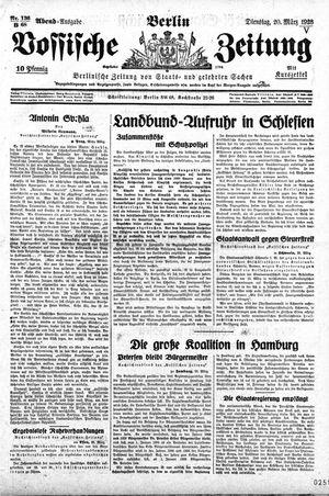 Vossische Zeitung vom 20.03.1928