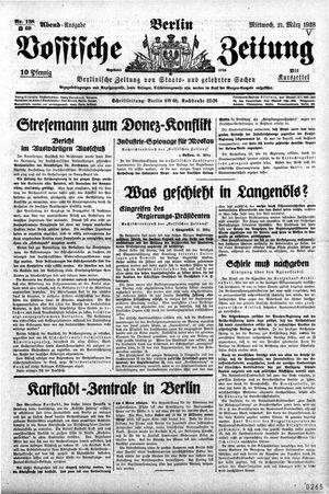 Vossische Zeitung vom 21.03.1928