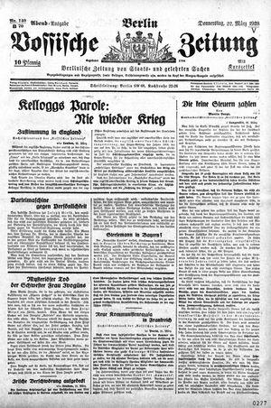 Vossische Zeitung vom 22.03.1928
