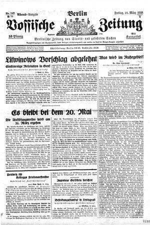 Vossische Zeitung vom 23.03.1928