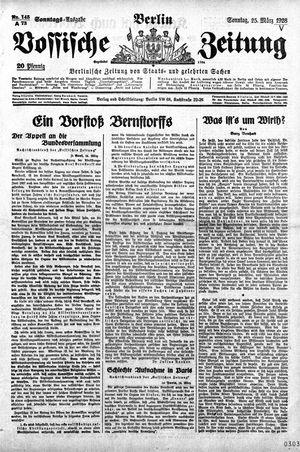Vossische Zeitung vom 25.03.1928