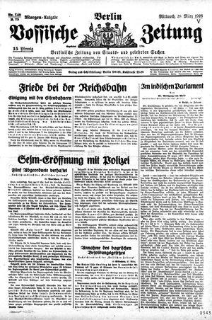 Vossische Zeitung vom 28.03.1928