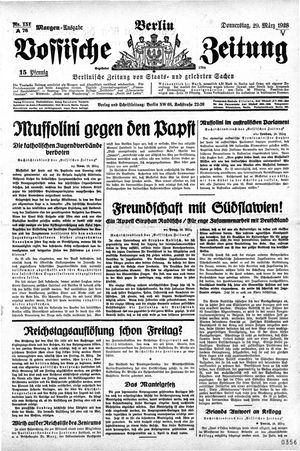 Vossische Zeitung vom 29.03.1928