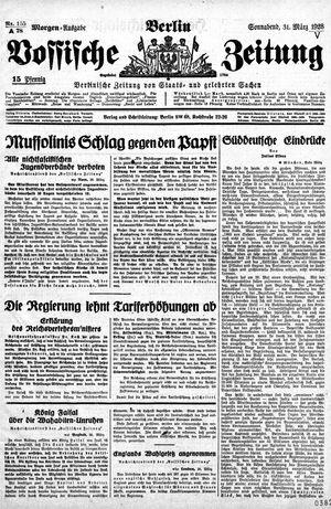 Vossische Zeitung vom 31.03.1928