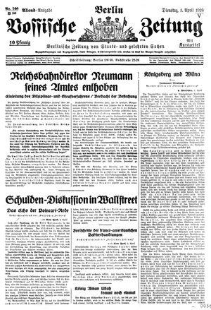 Vossische Zeitung vom 03.04.1928