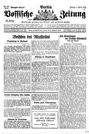 Vossische Zeitung vom 06.04.1928