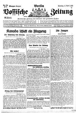 Vossische Zeitung vom 15.04.1928