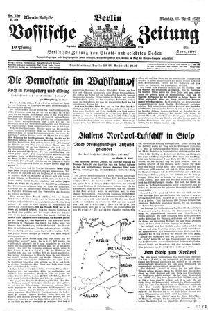 Vossische Zeitung vom 16.04.1928
