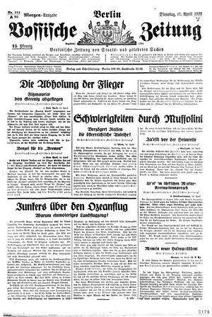 Vossische Zeitung vom 17.04.1928