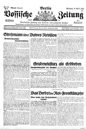 Vossische Zeitung vom 18.04.1928
