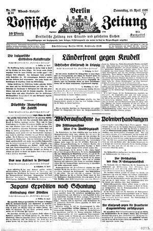 Vossische Zeitung vom 19.04.1928