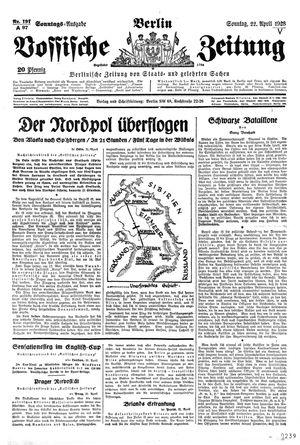 Vossische Zeitung vom 22.04.1928