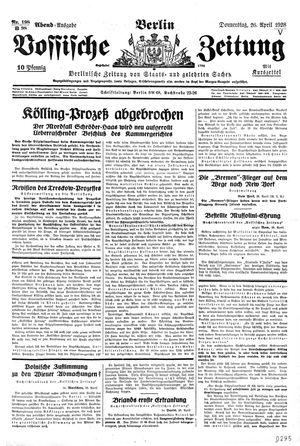 Vossische Zeitung vom 26.04.1928