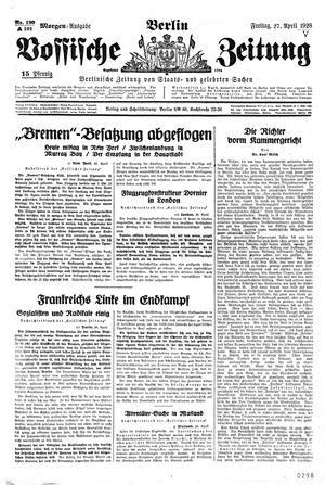 Vossische Zeitung vom 27.04.1928