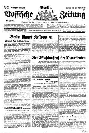Vossische Zeitung vom 28.04.1928