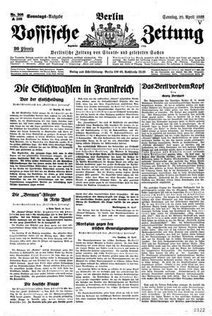 Vossische Zeitung vom 29.04.1928