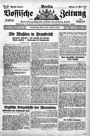 Vossische Zeitung vom 30.04.1928