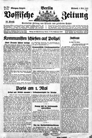 Vossische Zeitung vom 01.05.1929