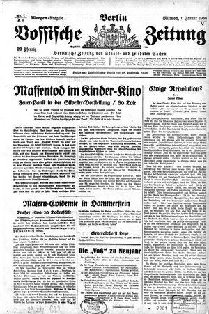 Vossische Zeitung vom 01.01.1930