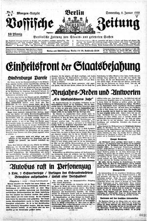 Vossische Zeitung vom 02.01.1930