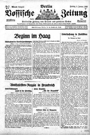 Vossische Zeitung vom 03.01.1930