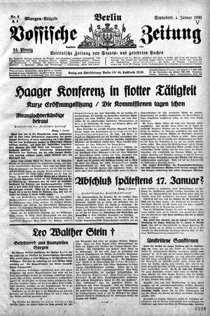 Vossische Zeitung vom 04.01.1930