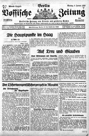 Vossische Zeitung vom 06.01.1930