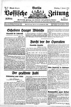 Vossische Zeitung vom 07.01.1930