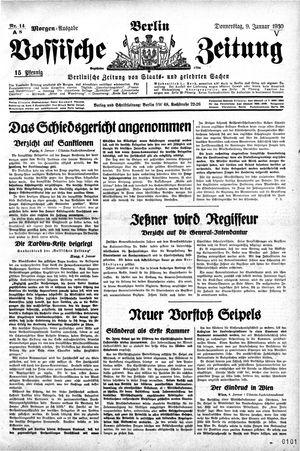Vossische Zeitung vom 09.01.1930