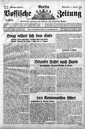 Vossische Zeitung vom 11.01.1930