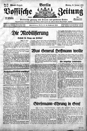 Vossische Zeitung vom 13.01.1930
