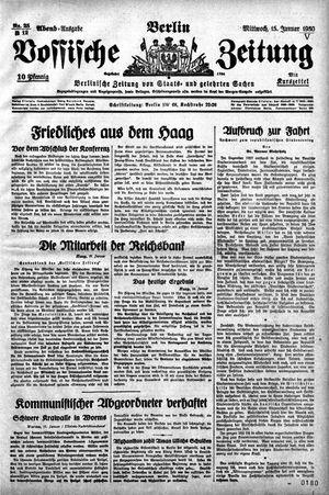 Vossische Zeitung vom 15.01.1930