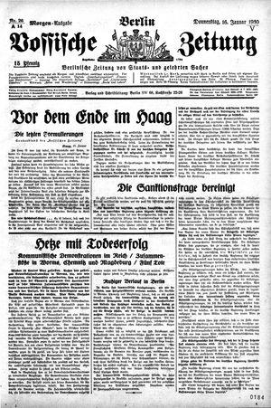 Vossische Zeitung vom 16.01.1930
