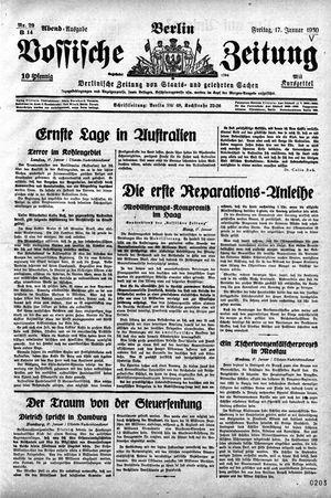 Vossische Zeitung on Jan 17, 1930