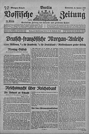 Vossische Zeitung vom 18.01.1930