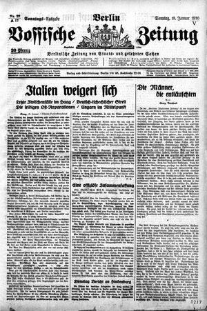 Vossische Zeitung on Jan 19, 1930
