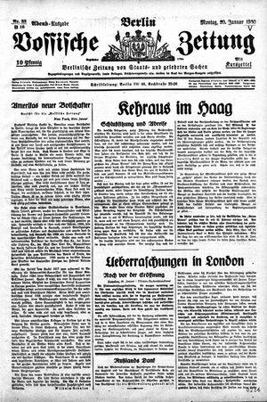 Vossische Zeitung vom 20.01.1930