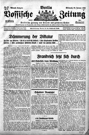 Vossische Zeitung vom 22.01.1930