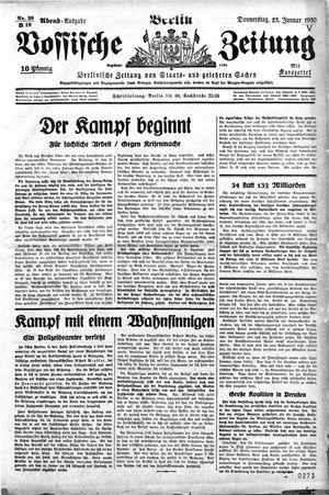 Vossische Zeitung vom 23.01.1930