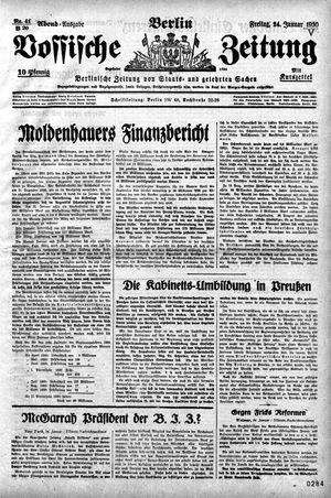 Vossische Zeitung vom 24.01.1930