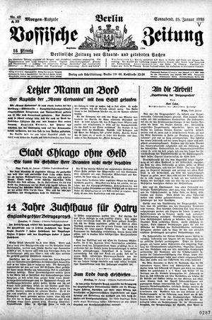 Vossische Zeitung vom 25.01.1930