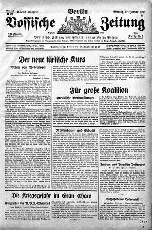 Vossische Zeitung vom 27.01.1930