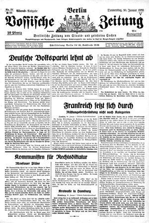 Vossische Zeitung vom 30.01.1930