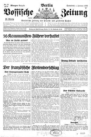 Vossische Zeitung vom 01.02.1930